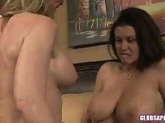 ClubSapphic - Blonde MILF Nina Hartley and B...